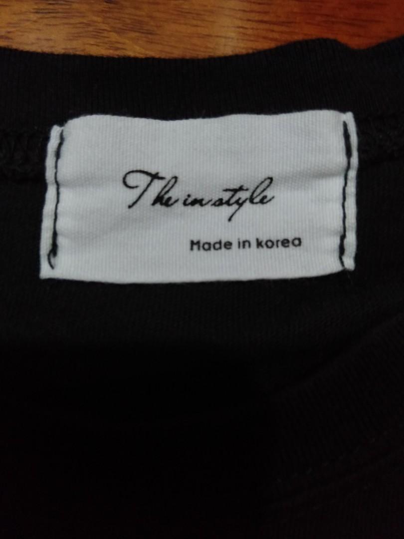 二手出售 正韓製 黑色T-shirt