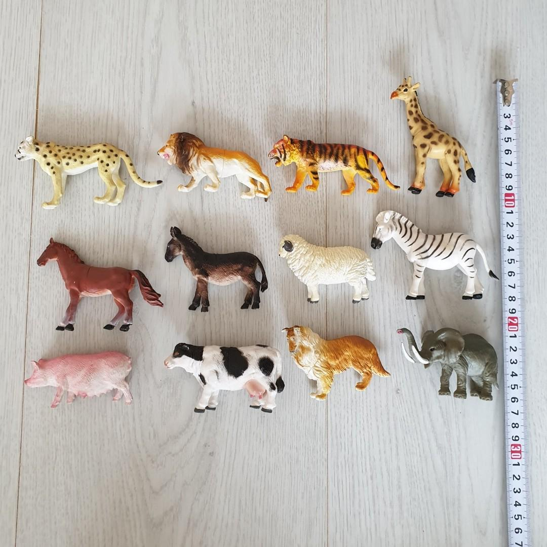 All for $10: Safari Zoo Toy 12 Animals + 1 Jumping Tiger