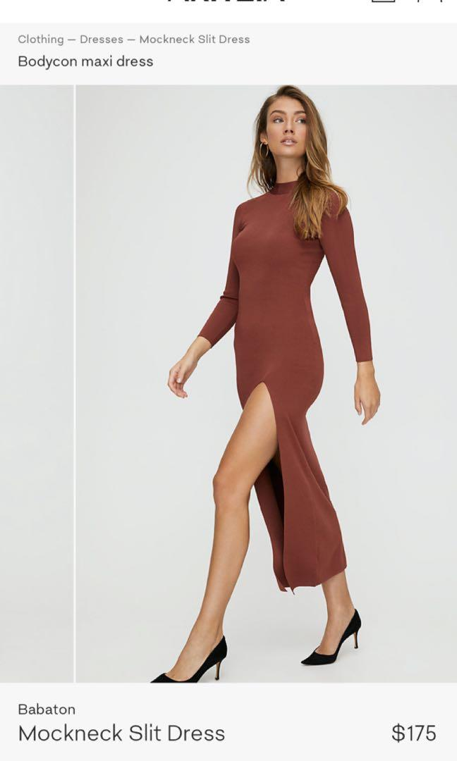ARITZIA Babaton Mockdeck Dress, Colour: Black, Size: XS