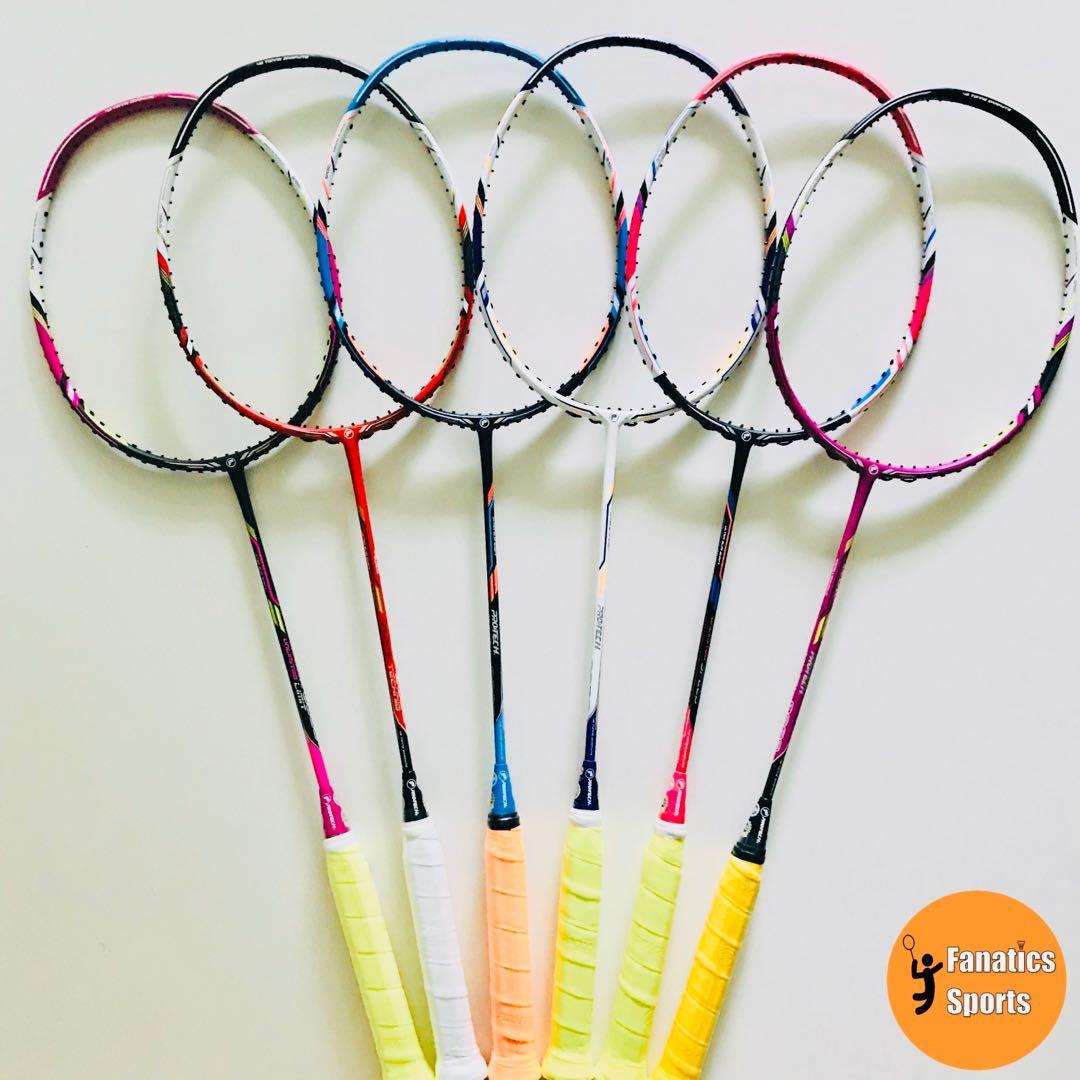 [50% OFF] Brand New Protech Unlimited Series Top Range Badminton Racket