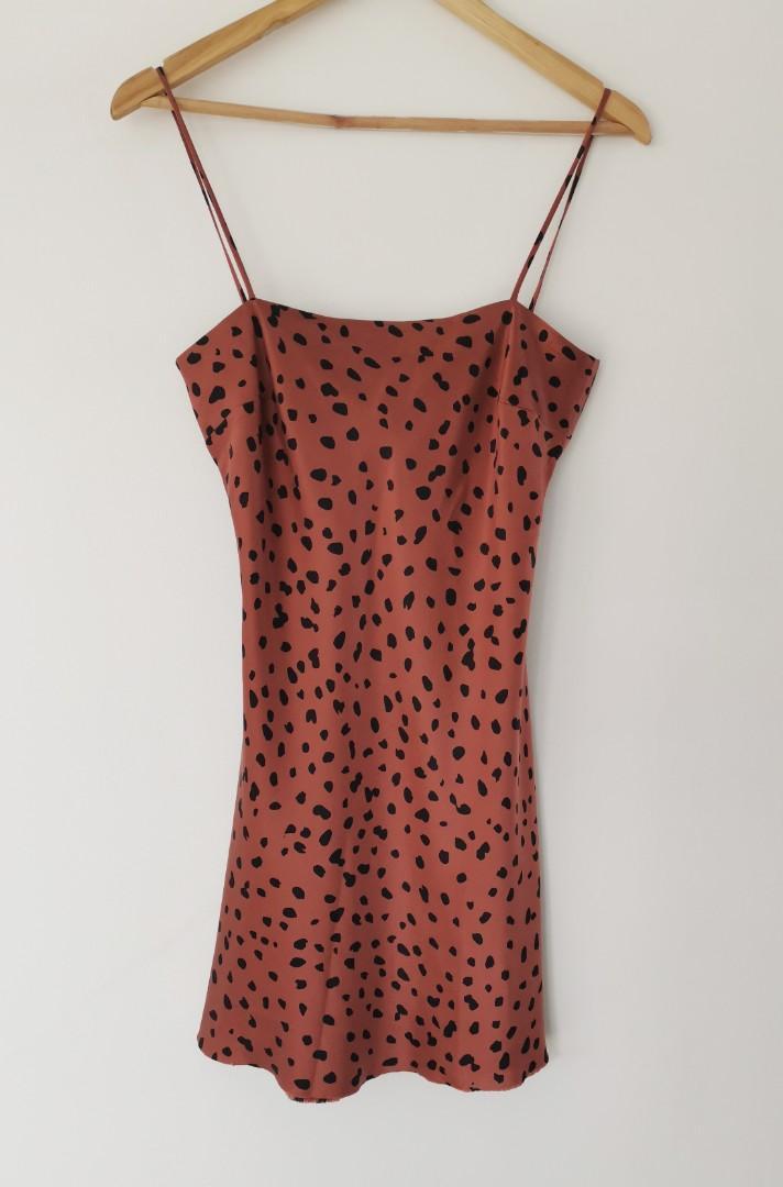 Bec & Bridge Wild Cat 100% Silk Mini Dress in Animal Print - Size 8 RRP $280