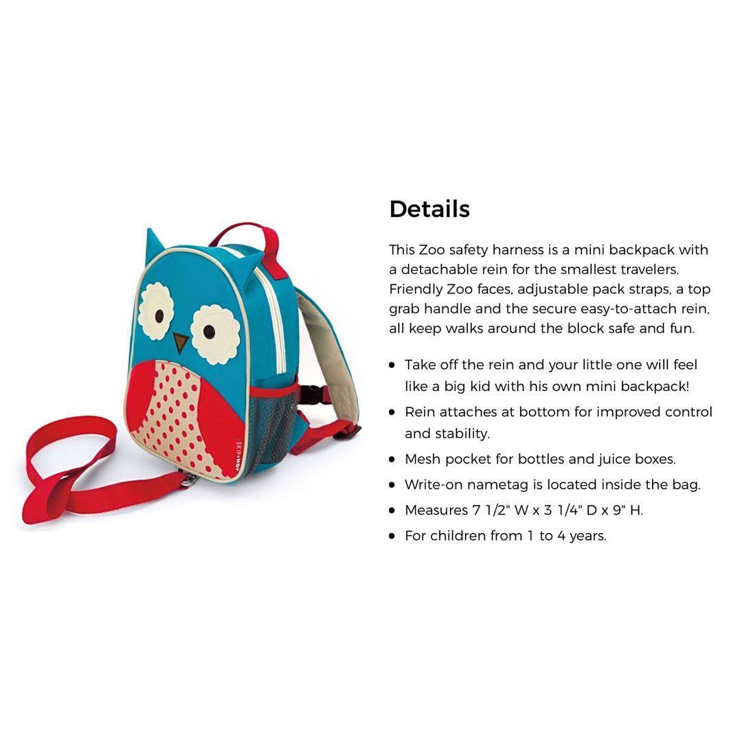 Brand new Skip Hop Zoo rolling luggage & mini backpack Owl