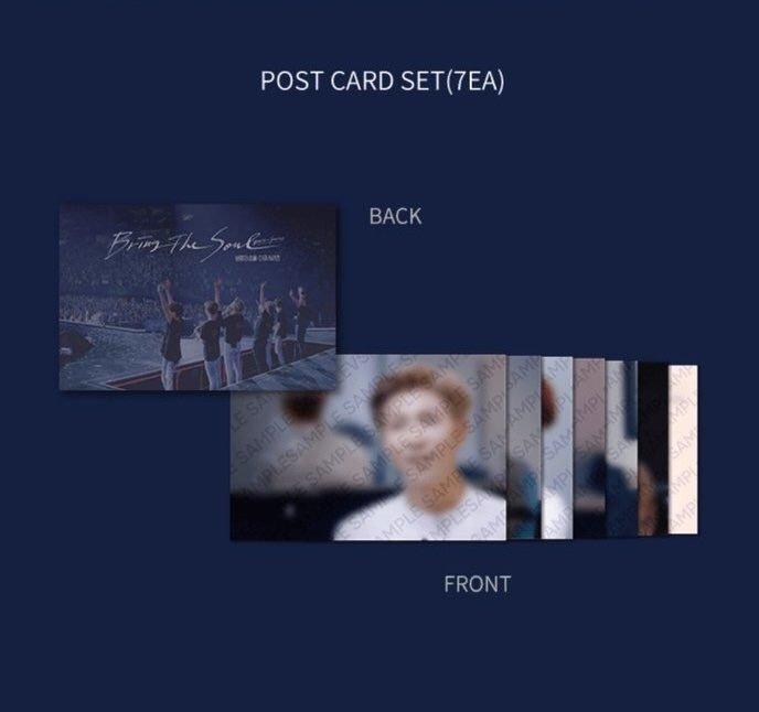 BTS Bring The Soul Docu Series Gift Postcard LOOSE