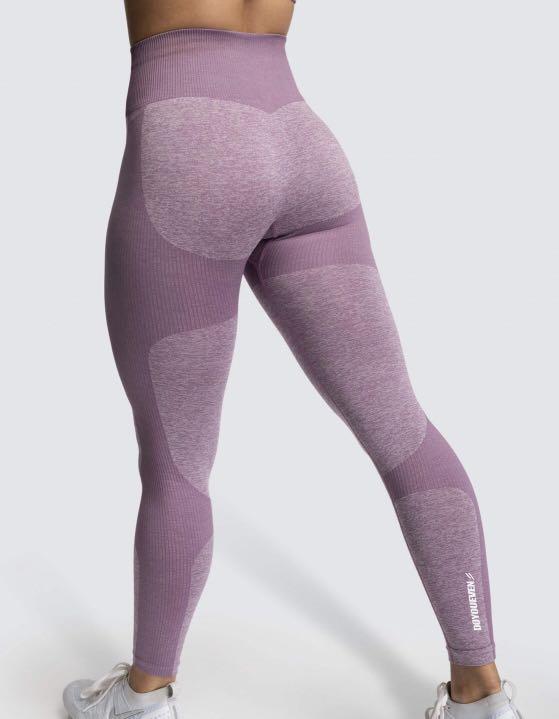 Do You Even Seamless Leggings & Sports Bra Set-Small Purple Mauve