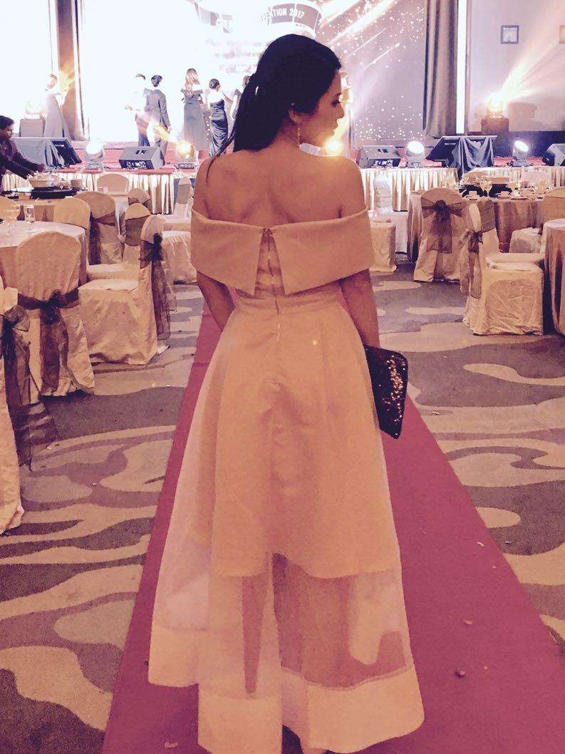 Doublewoot Off Shoulder Dinner Dress