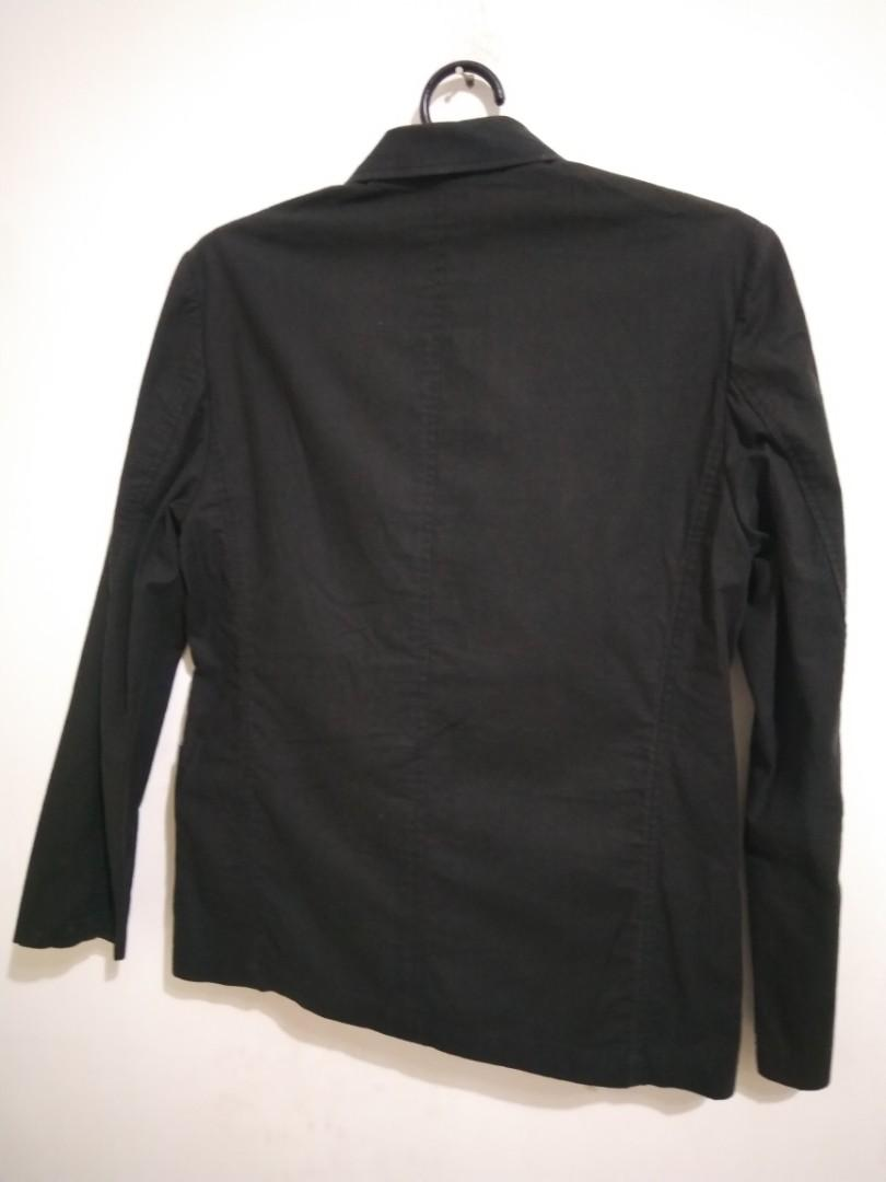 ELLE HOMME黑色薄休閒西裝外套