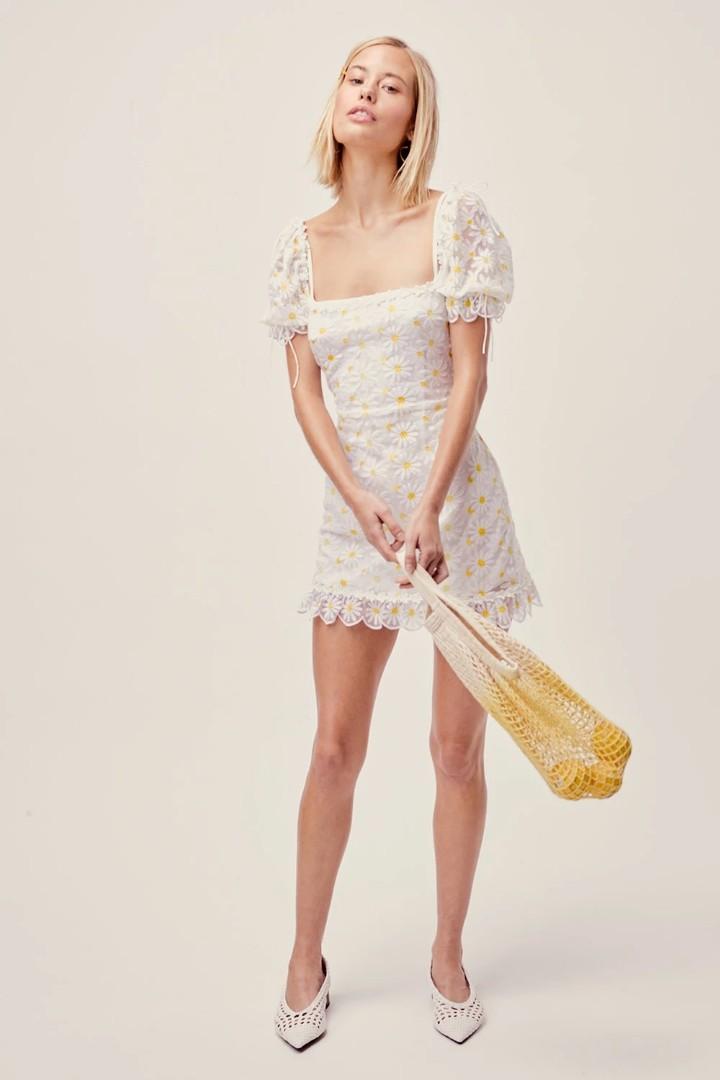 For Love & Lemons Brulee Daisy Mini Dress - Size XS BNWT RRP $450