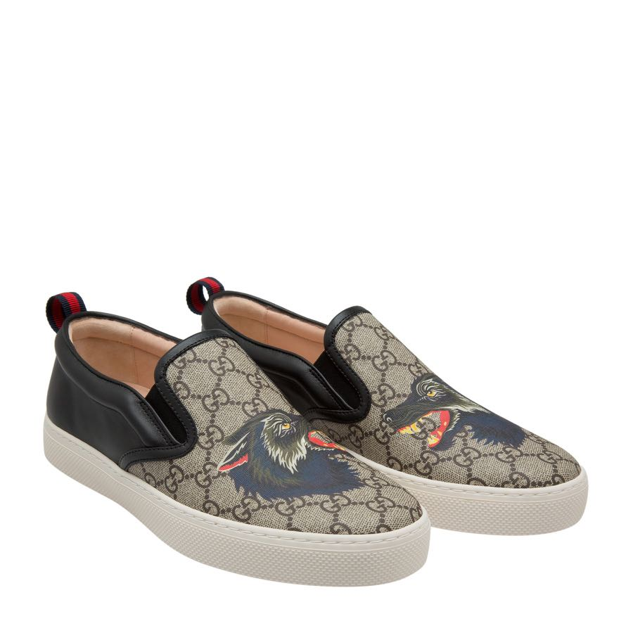 Gucci Wolf Slip On Sneakers, Men's