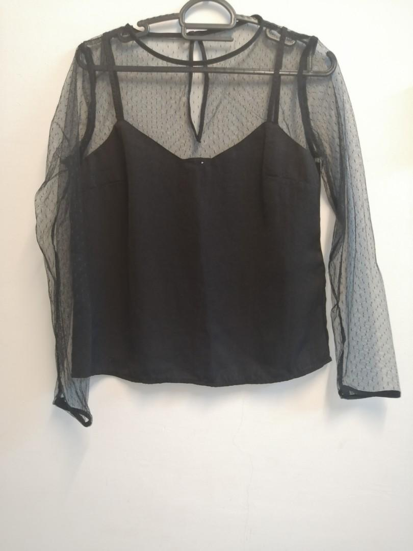 H&M top/ long sleeve lace top
