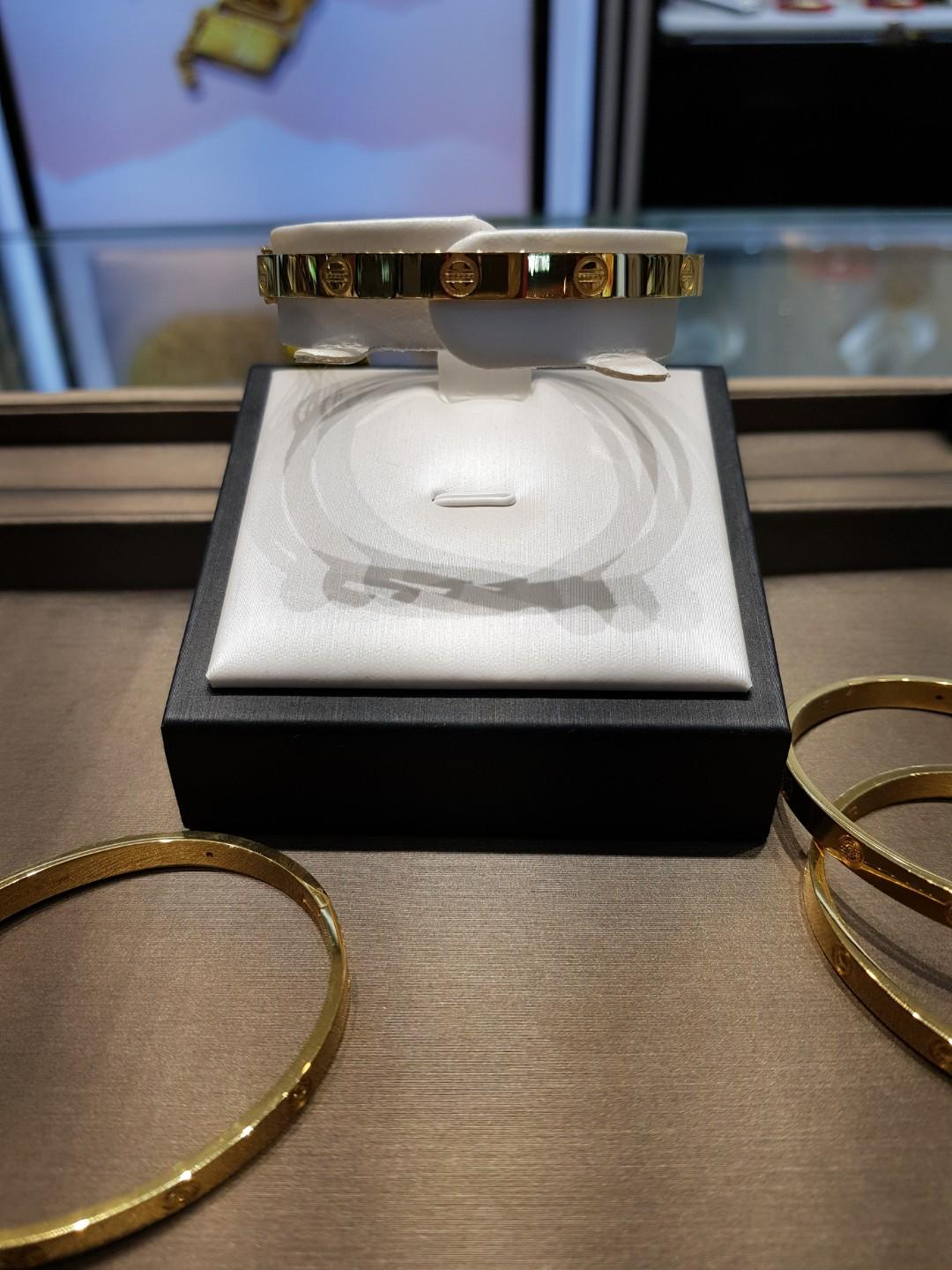 58mm Italy's Cartier design 916gold bangle