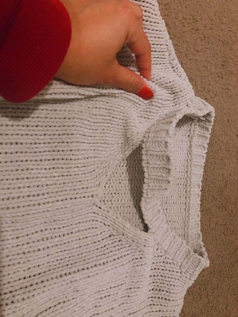 Knit Cream Color Top