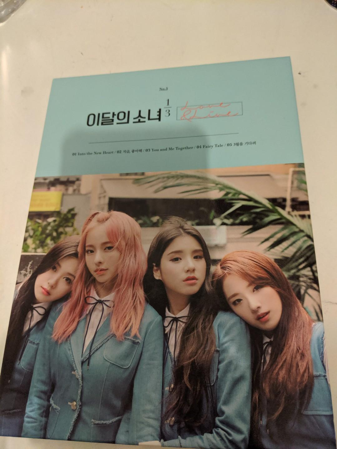 Loona love and live 1/3 unit limited edition K-pop album