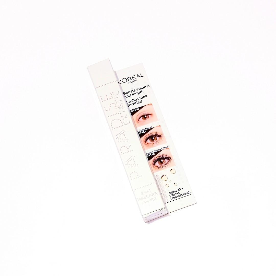 L'oréal Paris Paradise Extatic Boosted Volume 2 In 1 Jojoba Oil + Vitamin Ultra Soft Brush Mascara Primer
