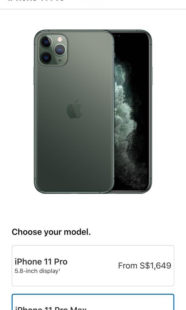 New iphone 11 pro max midnight green