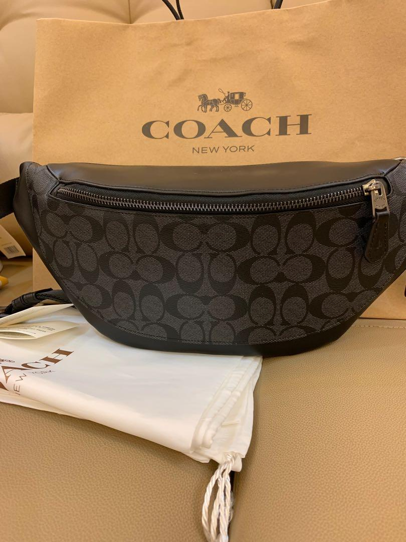 Ready stock 78777 men belt bag chest bag monogram crossbody chest bag coach