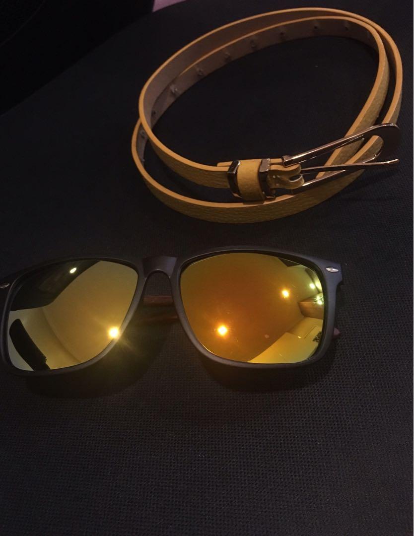 Sunglasses & belt