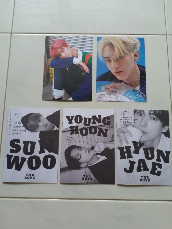 THE BOYZ dreamlike DDD photocard postcard photozine Q eric sunwoo younghoon Hyunjae