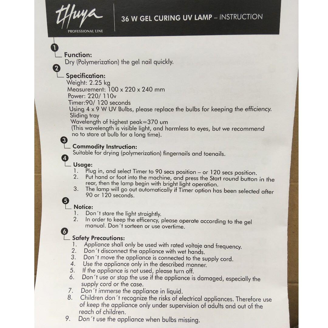 thuya PROFESSIONAL LINE Lámpara UV / LED 220V  光療機