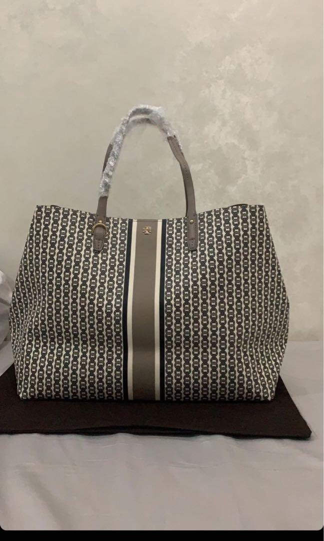 Tory Burch Gemini Link Large Tote French Grey - ORIGINAL AUTHENTIC 100%