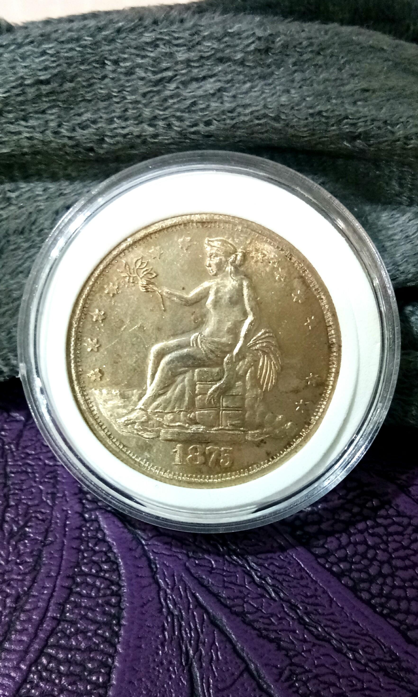 United States of America 1875 Trade Dollar ( This is a high value replica ) Wang Syilling USA