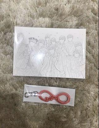 Readystock Destiny Embroidery Strap Keychain Wanna One by pd101_1cogoods