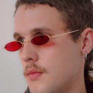 Kacamata round bundar merah blogger