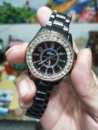 【二手出清】水鑽鋼帶中性錶(可換)