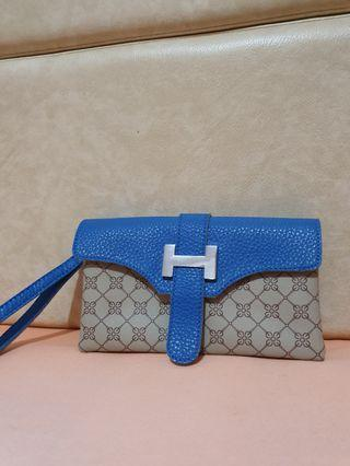Hermes Inspired Two Pocket Clutch