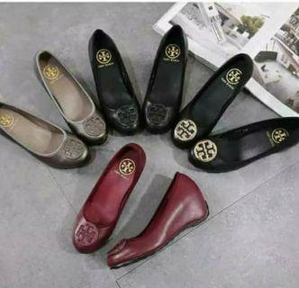 Tory Burch wedges heels pump shoes vintage import premium #joinoktober