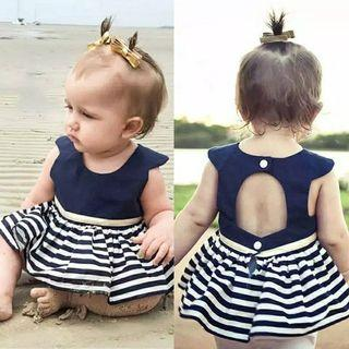 dress anak bayi import strip back hole #joinoktober