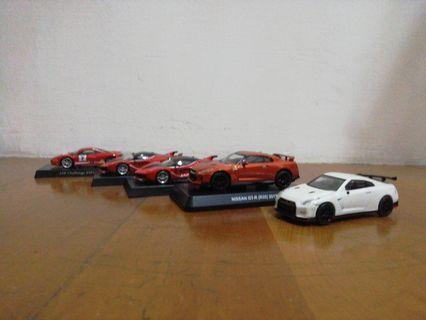 7-11跑車模型 6台一起賣