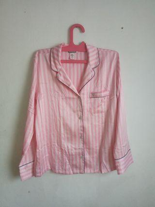 Victoria's Secret Pajamas Pink Stripe
