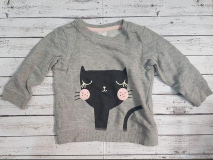 [PRELOVED] H&M Sweater Grey Cat