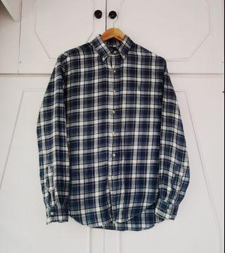 Authentic Ralph Lauren Plaid Button Down Long Sleeve Shirt