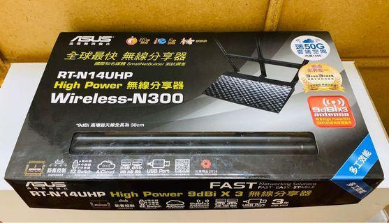 (贈wifi收納盒) ASUS RT-N14UHP 無線分享器 路由器 WiFi