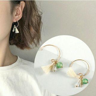 【全新】超仙波西 精緻小巧流蘇 簡約耳環