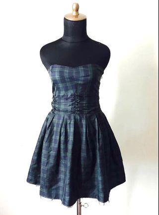 Heritage Adorable Tartan Print Tulle Princess Dress