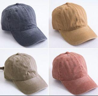 多色水洗做舊復古老帽