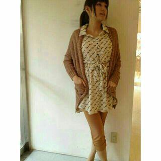 日本購入 日牌 coco deal 超美超仙 sweet雜誌刊載 碎花 腰間蝴蝶結綁帶 氣質雪紡洋裝 有領洋裝