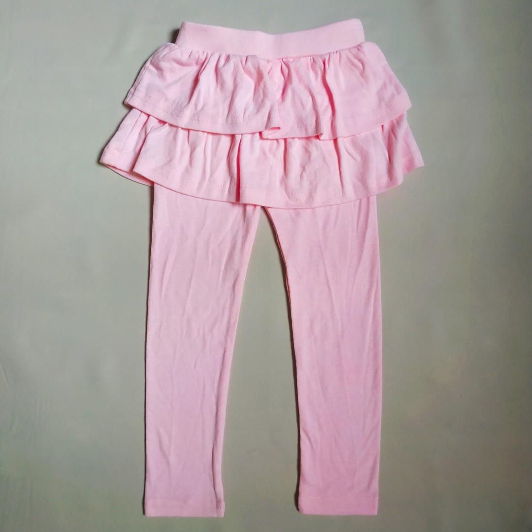 全新正韓女童假兩件內搭褲裙110cm