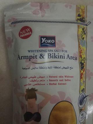 FREE DELIVERY [NEW]  2xYoko Whitening Spa Salt for Armpit and Bikini Area