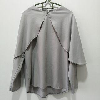 Grey Cape Blouse