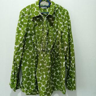 Polka Dot Green Blouse
