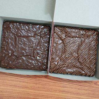 Brownies plain or nutella topping