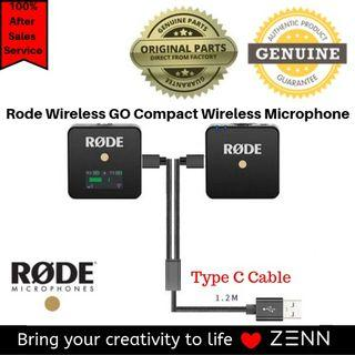 Rode Wireless GO Compact Wireless Microphone System with FREE Dual Head Charging Cable