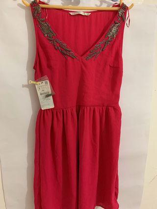 Zara Pink Dress New Original with Tag on 💯 %