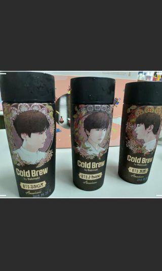 客訂 BTS咖啡空瓶*3