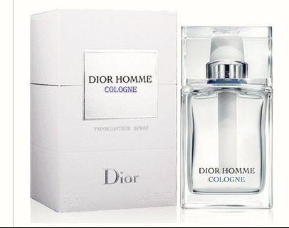 DIOR HOMME COLOGNE清新淡男士淡香水125ml 附Dior禮袋