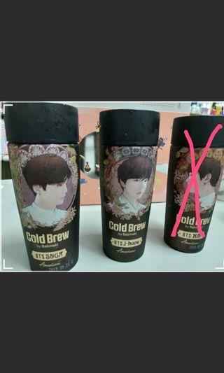 BTS Cold Brew 防彈 冷萃咖啡系列 空瓶 SUGA、 J-HOPE、RM