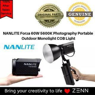 NANLITE Forza 60W 5600K Photography Portable Outdoor LED Monolight COB Light